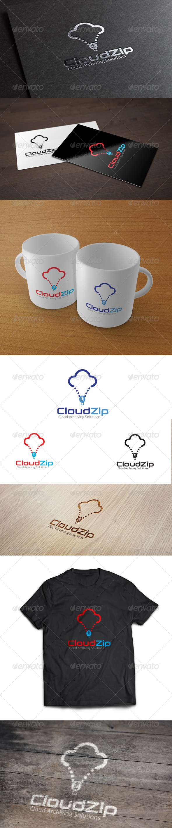 GraphicRiver Cloud Zip Logo Template 7010288