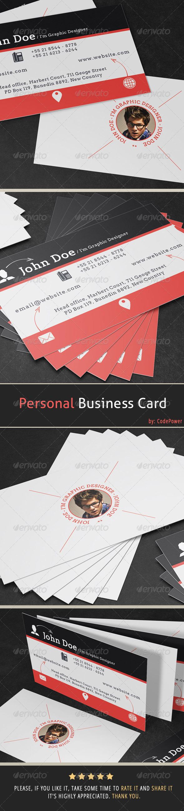 GraphicRiver Personal Business Card 7010369