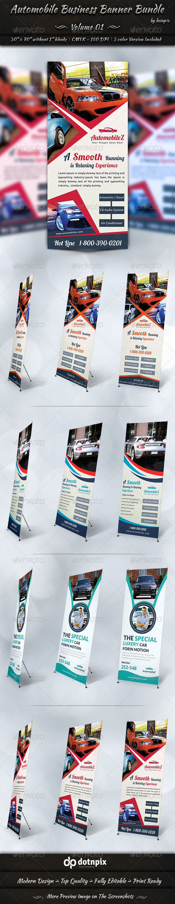 Automobile Business Banner Bundle | Volume 1 - Signage Print Templates