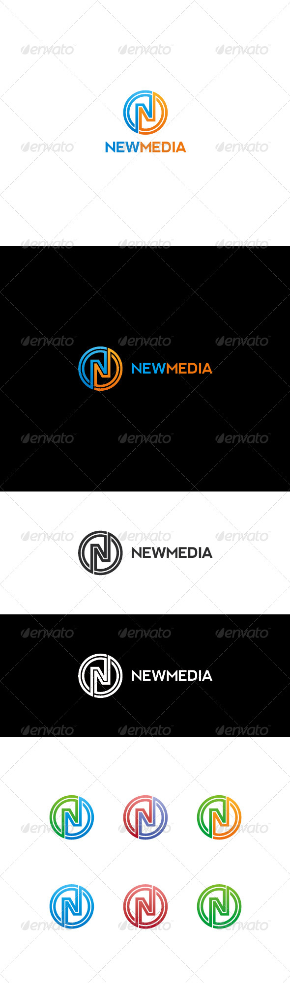 GraphicRiver N Letter Logo Newmedia 7010539