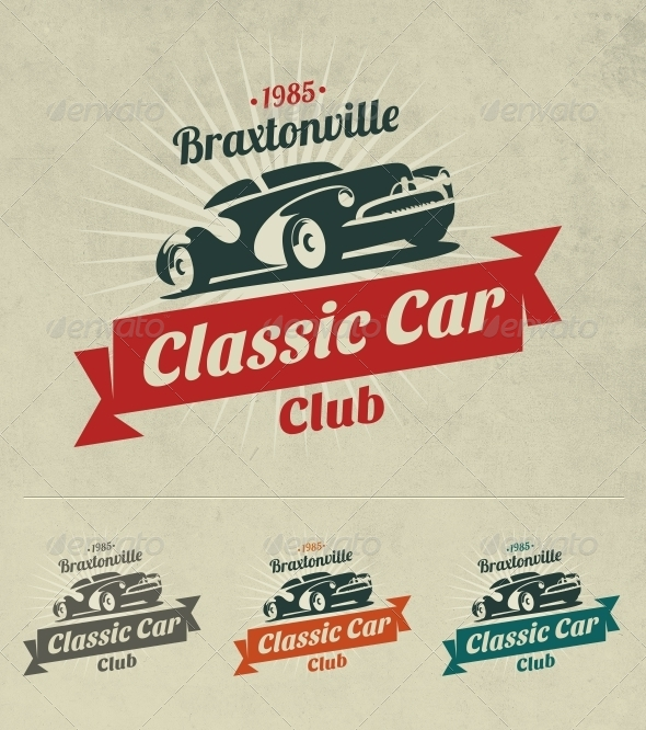 GraphicRiver Classic Car Logo 6990440