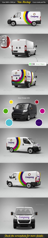 GraphicRiver Van Car Mock-Up 7010555