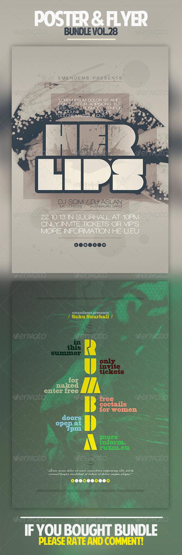GraphicRiver Poster & Flyer Bundle Vol.28 7010635