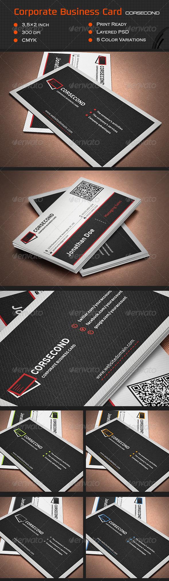 GraphicRiver Corporate Business Card Cor2 7010757