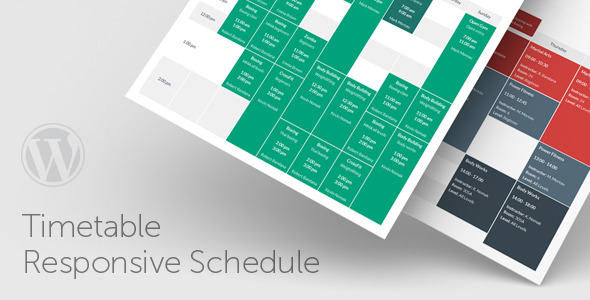 CodeCanyon Timetable Responsive Schedule For WordPress 7010836