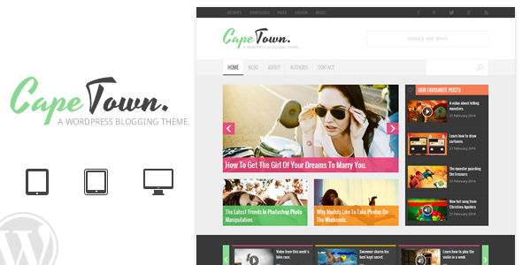 ThemeForest Cape Town Blogging Theme 7010853