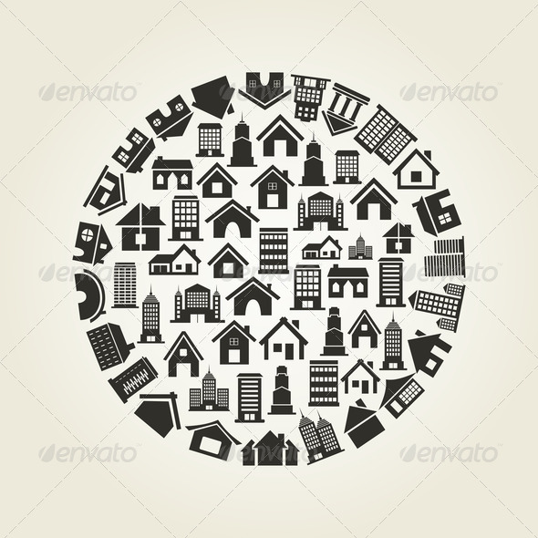 House a circle - Stock Photo - Images