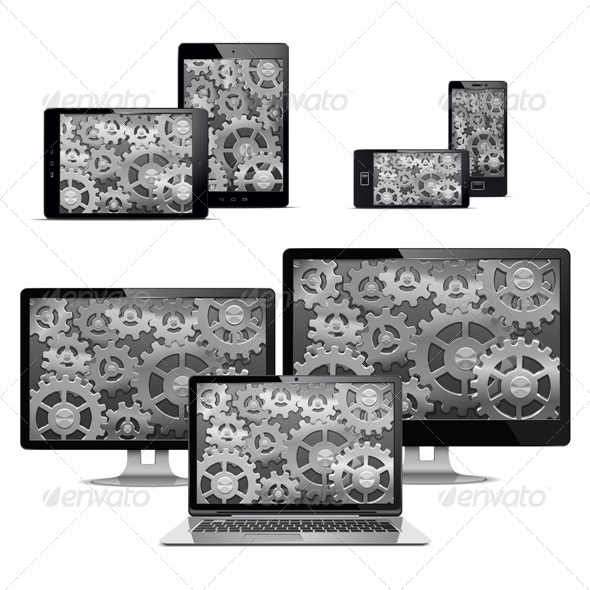 GraphicRiver Computers with Gears 7010961