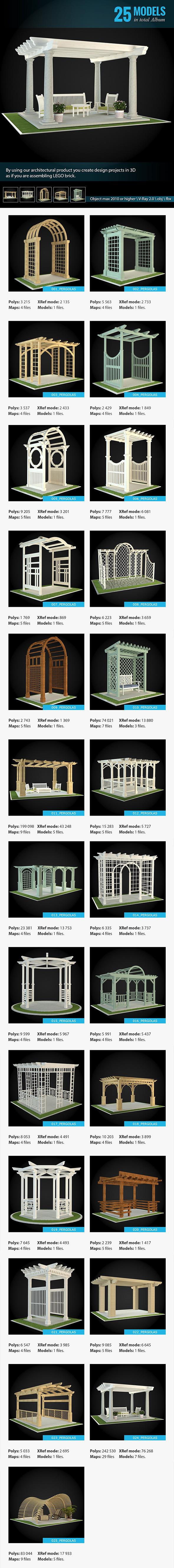 3DOcean Collection of Pergolas 7010982