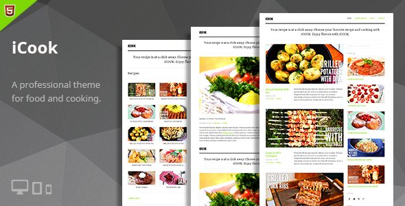 iCook – Food Blog HTML Theme - Personal Site Templates