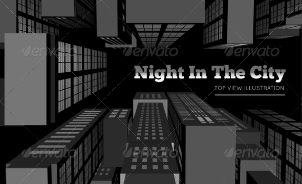 GraphicRiver Night in the City Top View 7011317