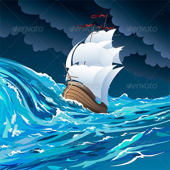 GraphicRiver Sail Ship 7011374