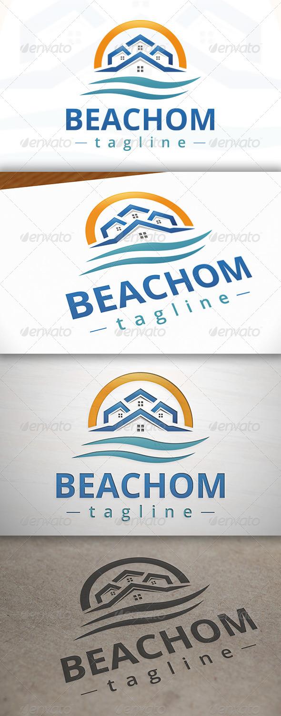 GraphicRiver Beach Homes Logo 7011737