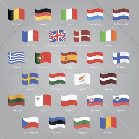 GraphicRiver Flags of EU Countries 7011742