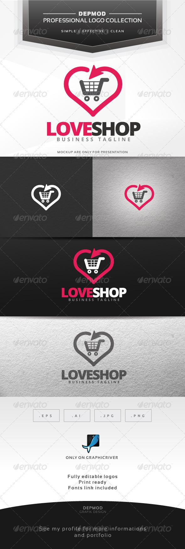 GraphicRiver Love Shop Logo 7011758