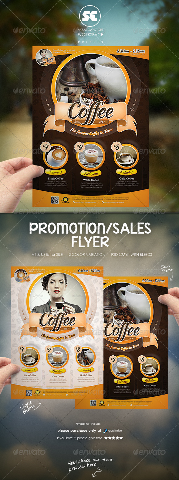 GraphicRiver Modern Coffee House Flyer Magazine Ads 7011857