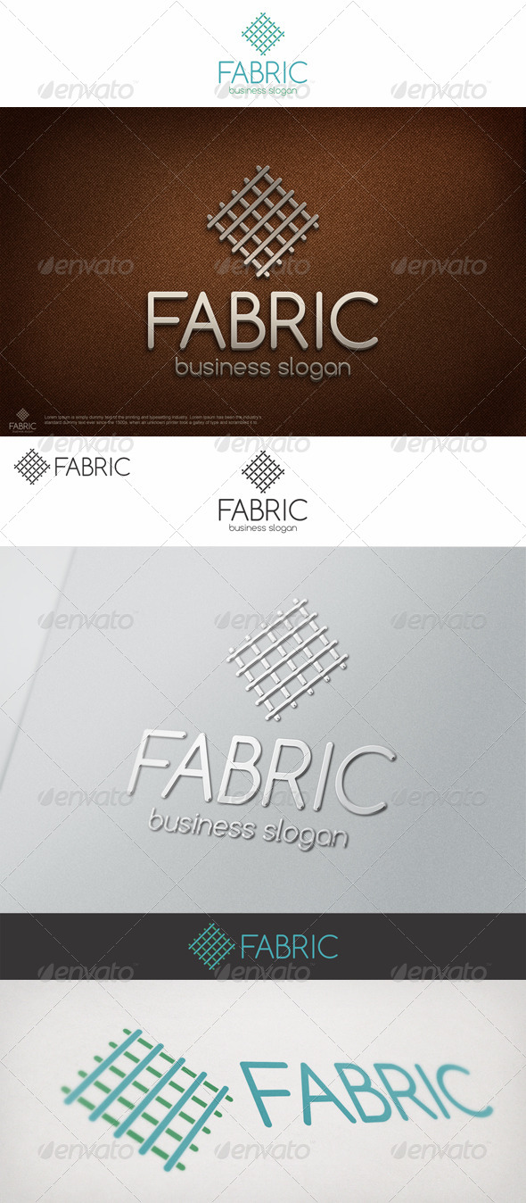 GraphicRiver Fabric Canvas Linien Logo 7011962