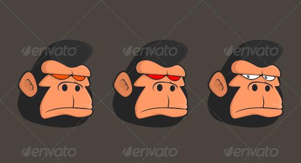 GraphicRiver Gorilla Head 7011984