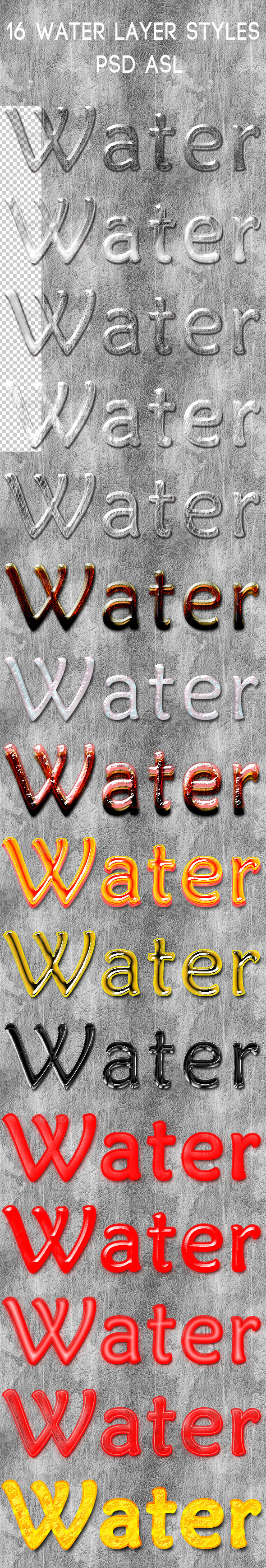 GraphicRiver 16 Water layer Styles 7012033