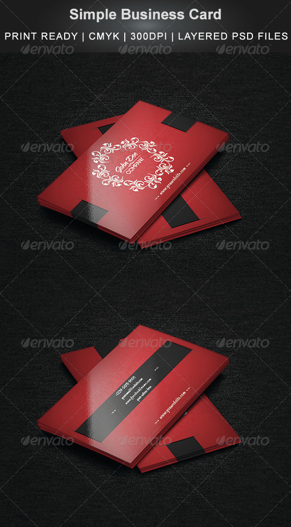 GraphicRiver Simple Business Card 7012049