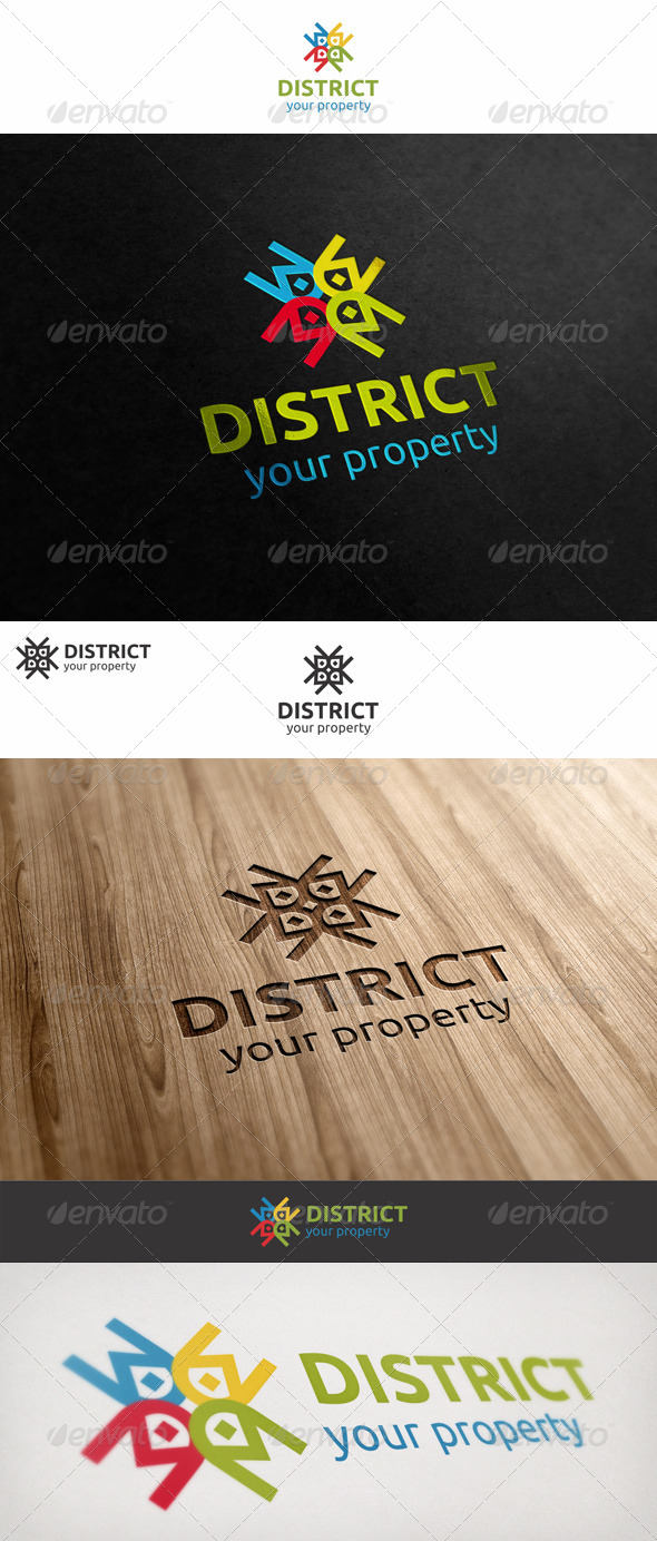 GraphicRiver District Property Homes Logo 7012096
