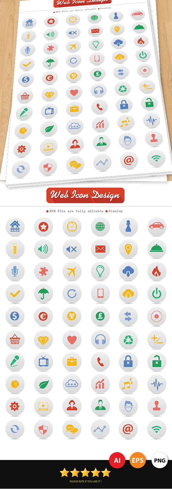GraphicRiver 60 Web Icons Design 7007037
