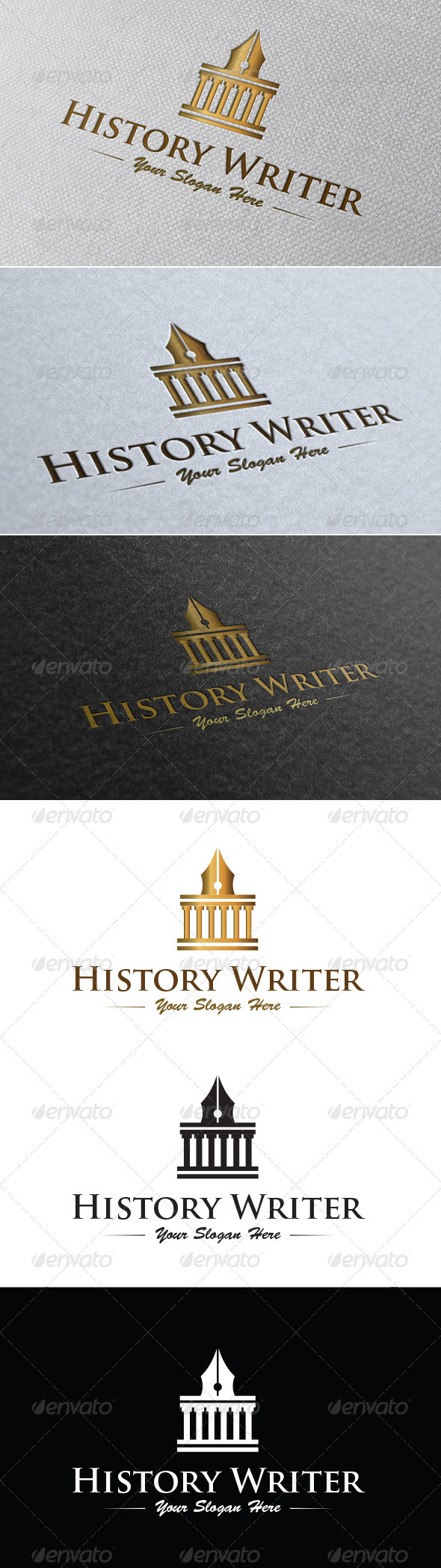 GraphicRiver History Writer Logo Template 7007975