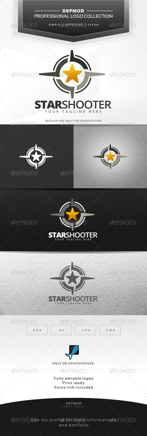 GraphicRiver Star Shooter Logo 7012590