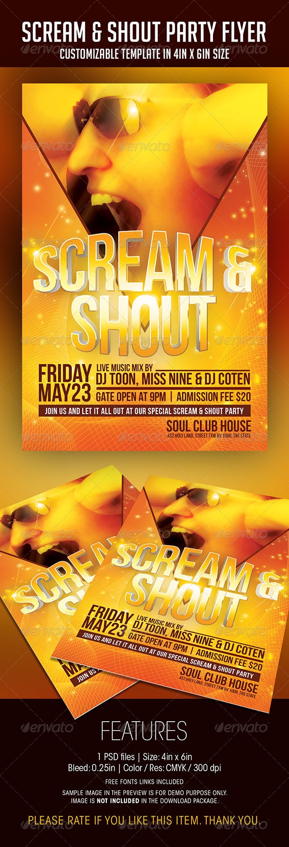 GraphicRiver Scream And Shout Party Flyer 7012873