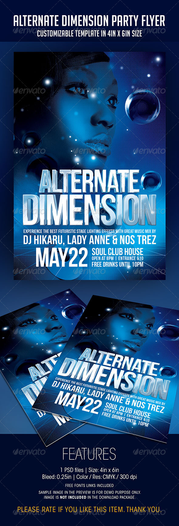 GraphicRiver Alternate Dimension Party Flyer 7012881