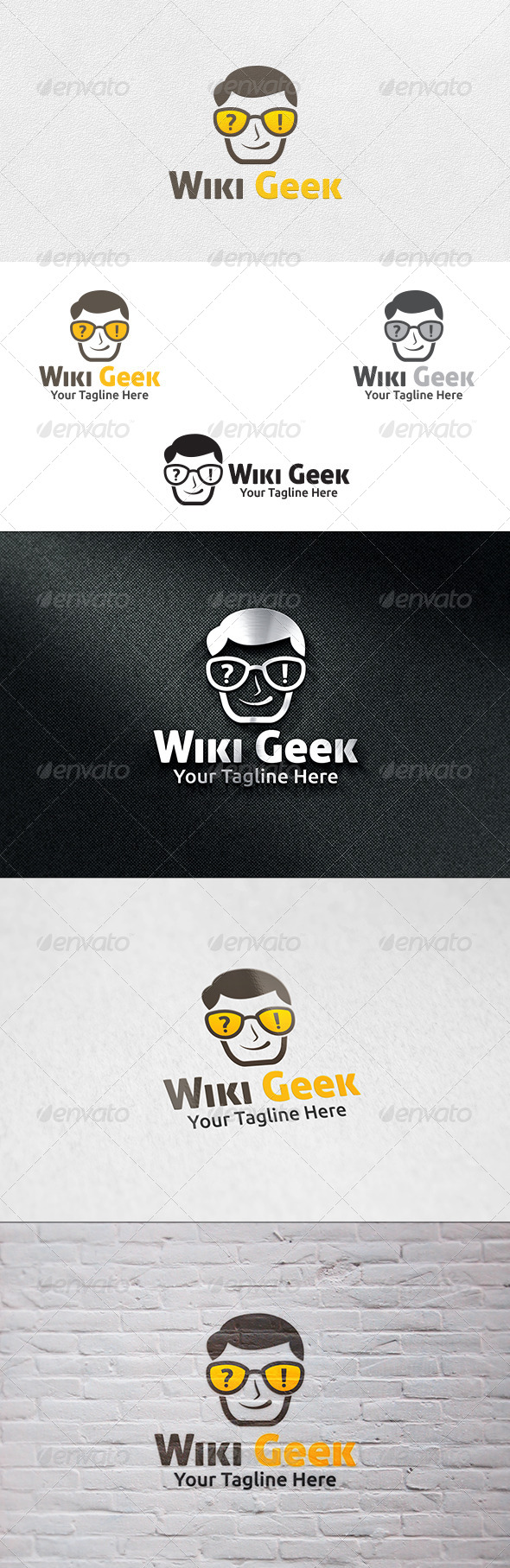 GraphicRiver Wiki Geek Logo Template 7012883