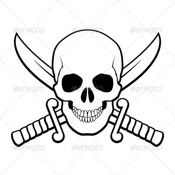 GraphicRiver Pirate Symbol 7013003