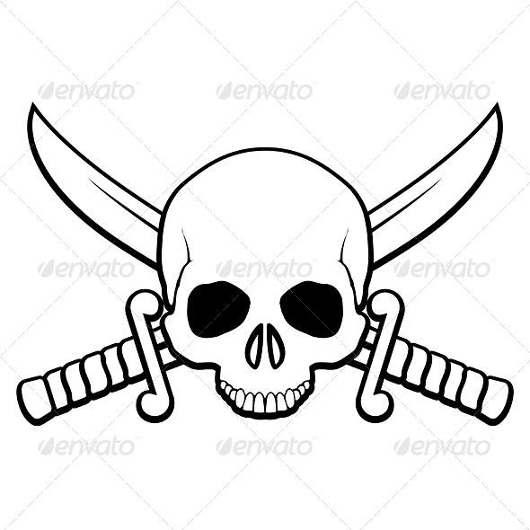 GraphicRiver Pirate Symbol 7013017