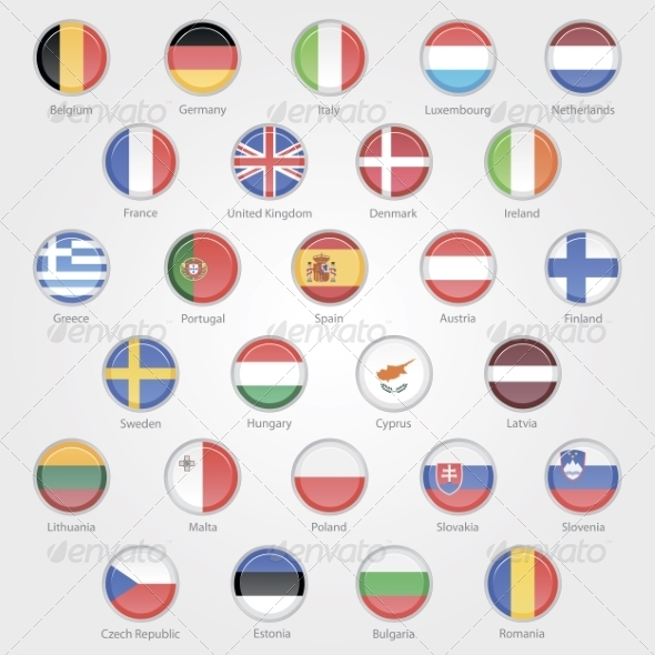 GraphicRiver Flags of the EU Countries Icons 7013200