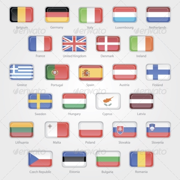 Flags of the EU Countries Icons