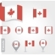 Set of Candadian Icons and Flags - GraphicRiver Item for Sale