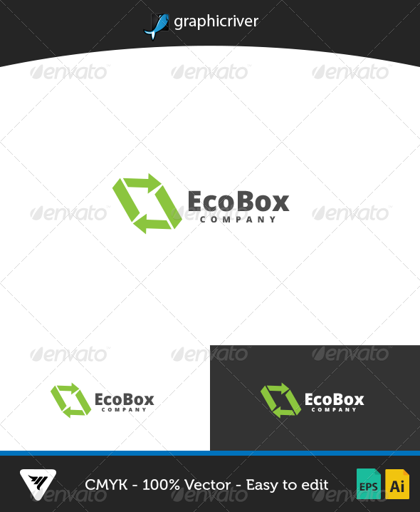 GraphicRiver EcoBox Logo 7013329