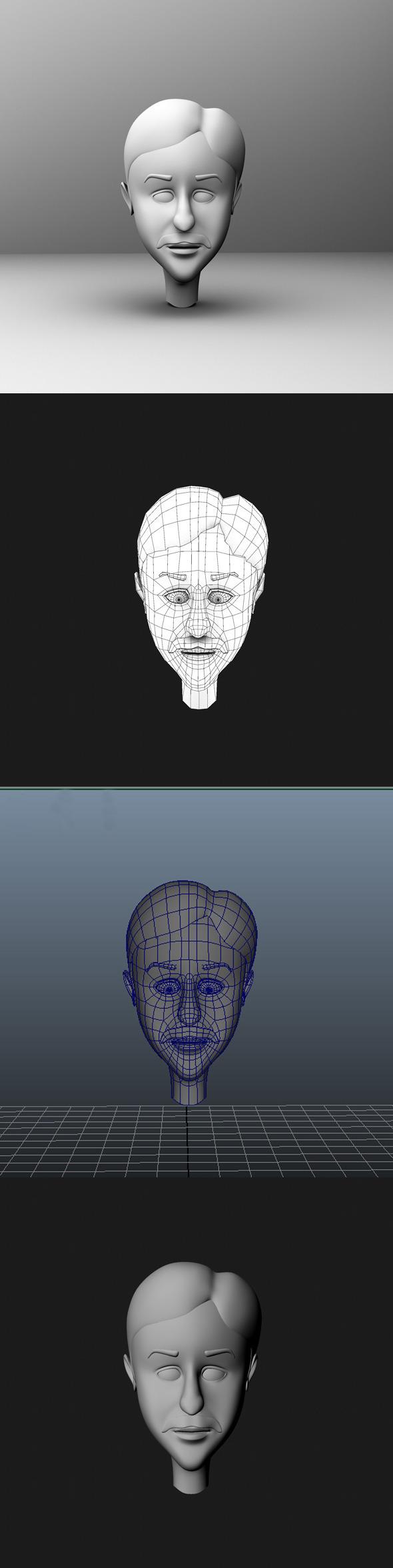 3DOcean Base Mesh Cartoon Character Head 7013349