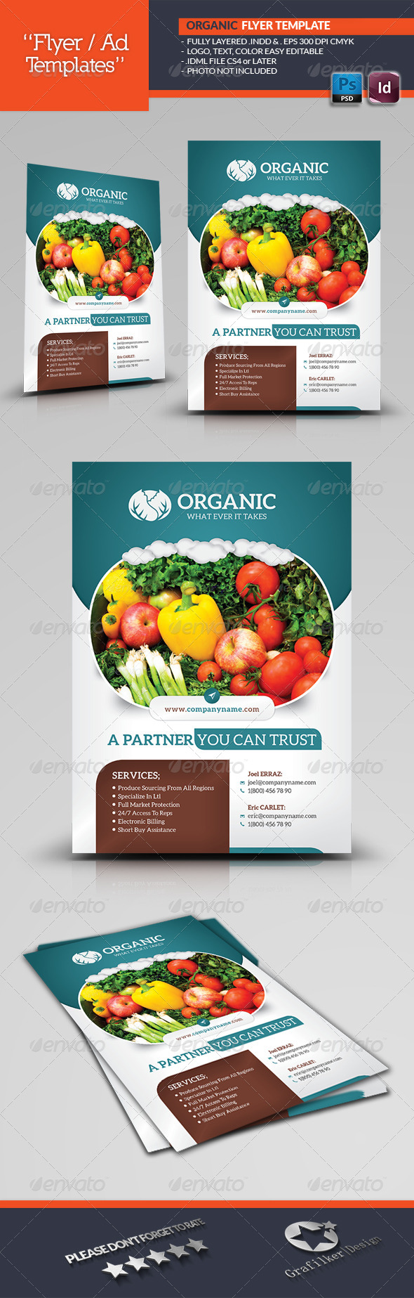 GraphicRiver Organic Flyer Templates 7013405