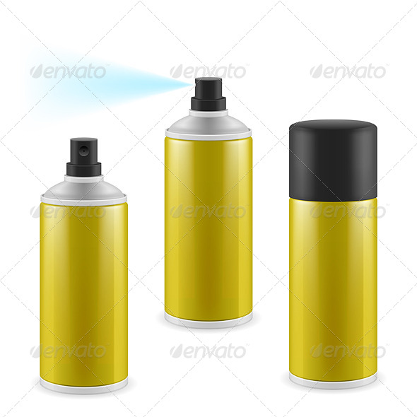 GraphicRiver Golden Spray Cans 7013411