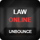 Law Online Unbounce Template - ThemeForest Item for Sale