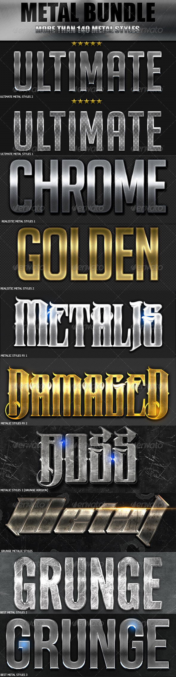 GraphicRiver Metal Styles Ultimate Bundle 7013621