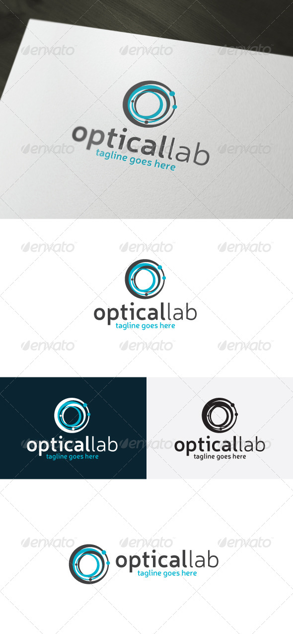 GraphicRiver Optical Lab Logo Letter O 7011406
