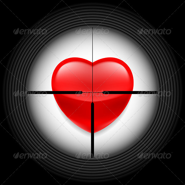 GraphicRiver Heart in Rifle Sight 7013661