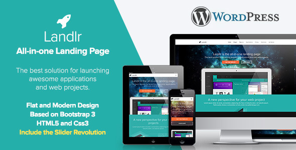 ThemeForest Landlr The All-in-One Landing Page WordPress 6952895
