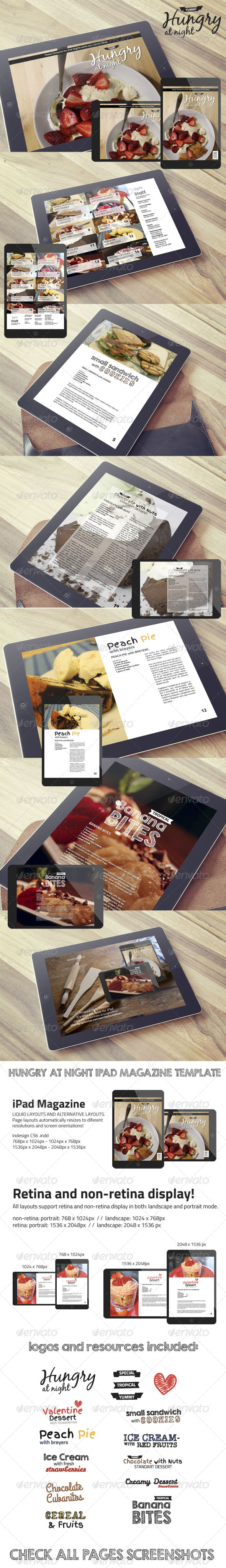 GraphicRiver Hungry At Night iPad Magazine Template 7010574