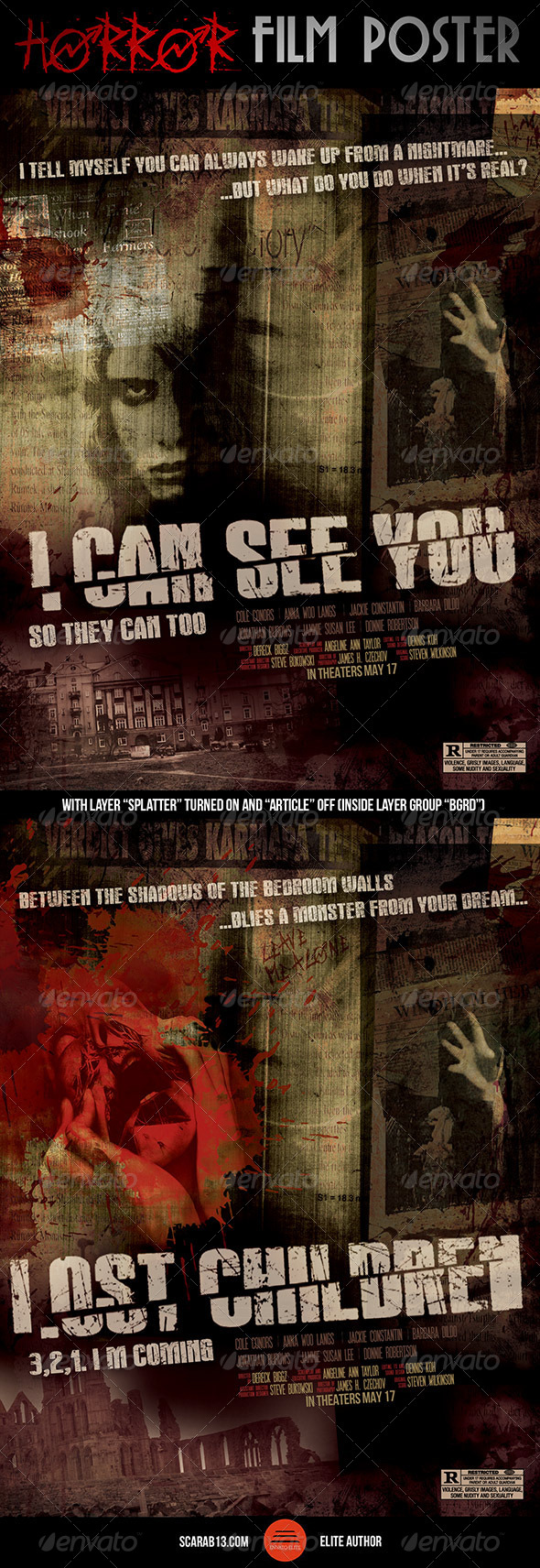GraphicRiver Horror Film Poster 7013924