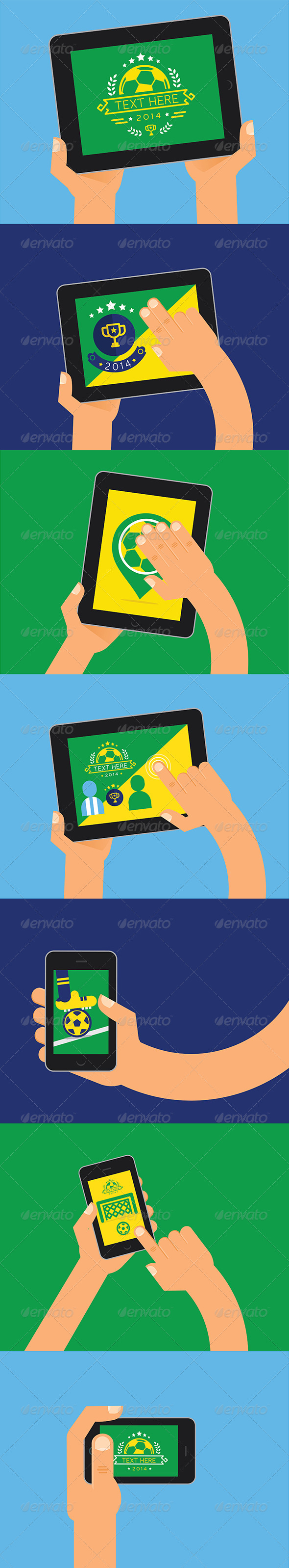 GraphicRiver Soccer Tablets Brazil Design 7006253