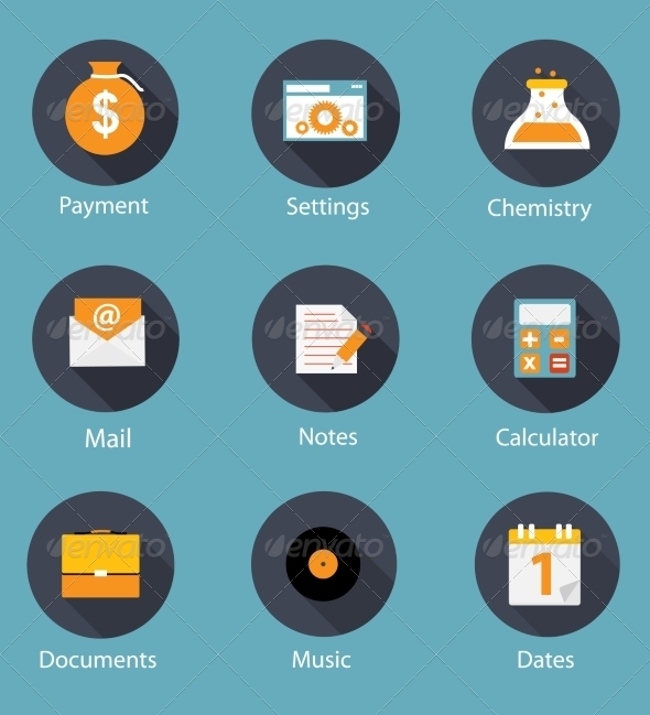 GraphicRiver Set of Flat Icons 7013971