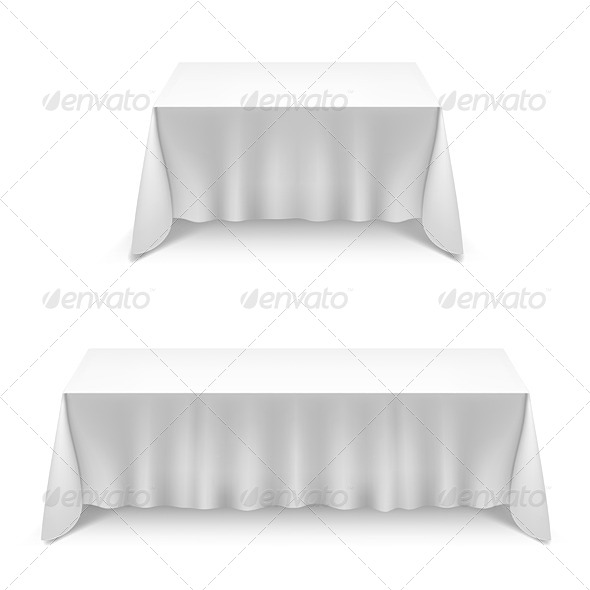 GraphicRiver Two Tables with White Cloth 7014032